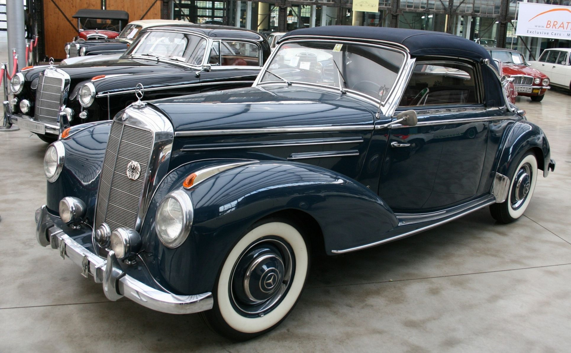 Mercedes benz 220 cabriolet w187 only cars and cars for Mercedes benz automobiles