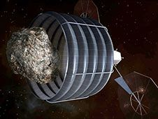 Image above: A notional concept of a<br /> solar-electric-powered spacecraft,<br /> designed to capture a small near-Earth<br /> asteroid and relocate it safely close<br /> to the Earth-moon system so astronauts<br /> can explore it.<br /> Photo credit: NASA<br /> <a href='http://www.nasa.gov/images/content/741779main_asteroid_retrieval-full.jpg' class='bbc_url' title='External link' rel='nofollow external'>� Larger Image</a>