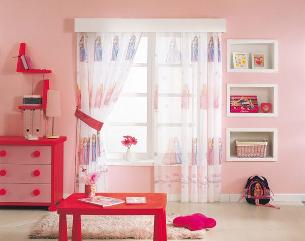 gardine barbie prinzessin 2 teile 126b x 150l 210l kinderzimmer vorhang disney ebay. Black Bedroom Furniture Sets. Home Design Ideas
